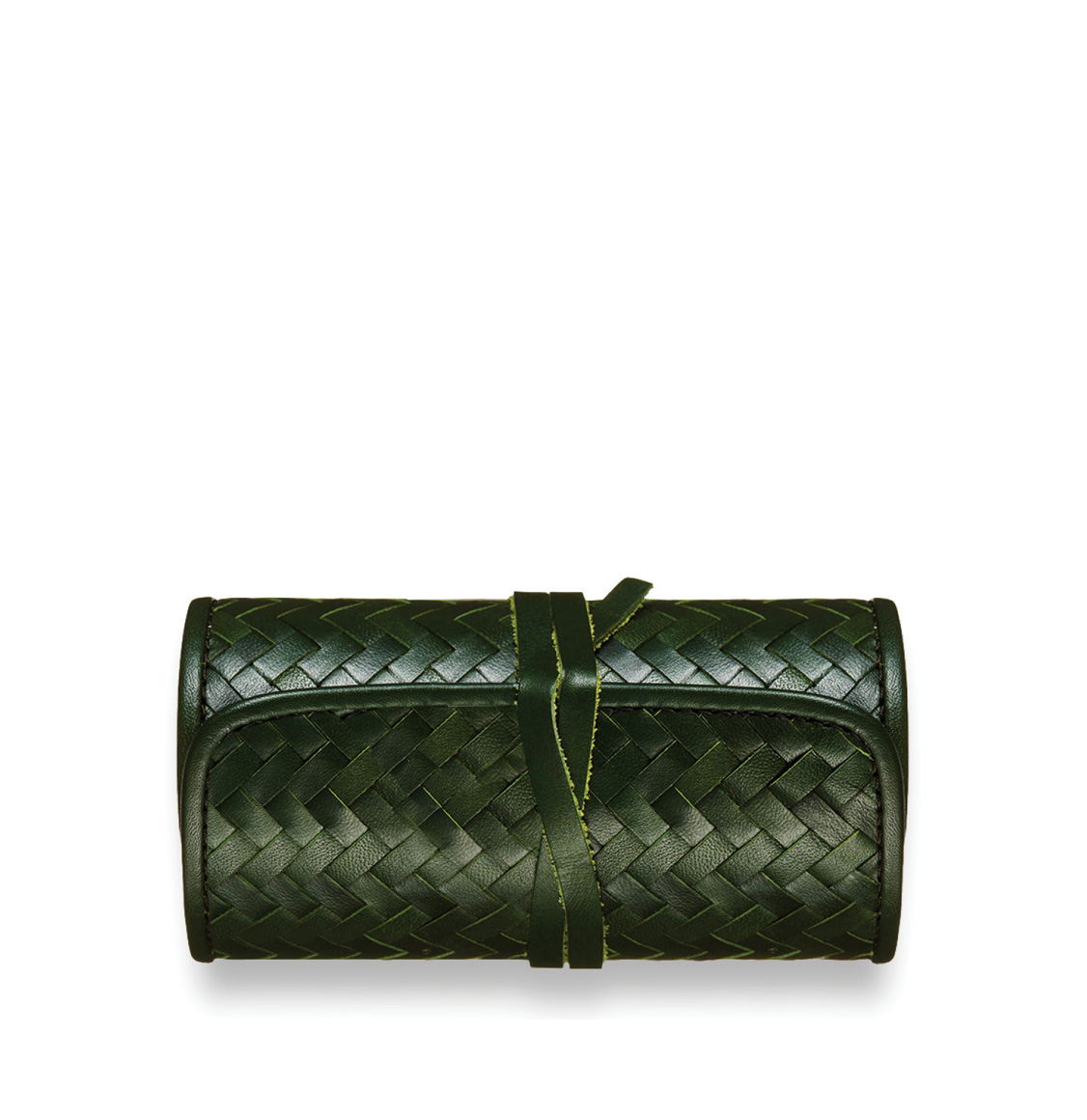 Mantidy_Herringbone_Cheese_and_Wine_Roll_Green_Leather_The_Project_Garments_A